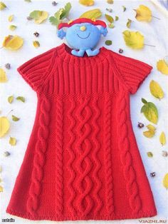 Knitted tunic for girls