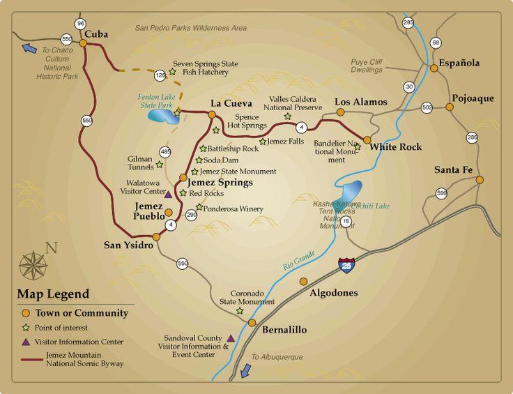 jemez springs new mexico map | Kasha-Katuwe Tent Rocks National Monument