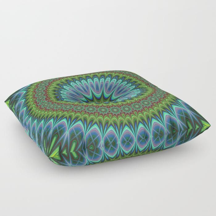 SOLD in my Society6 shop: Mandala Floor Pillow by David Zydd  #FloorPillow #home #design #pillows
