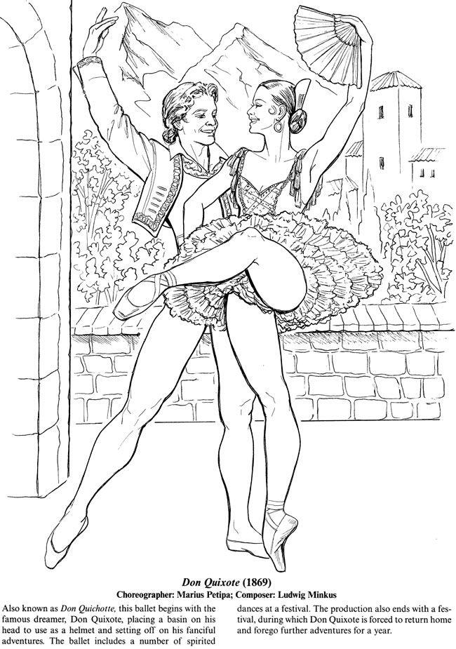 Favorite Ballets Coloring Book Dover Publications