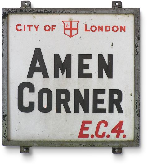 City of London street sign: Amen Corner, E.C.4.