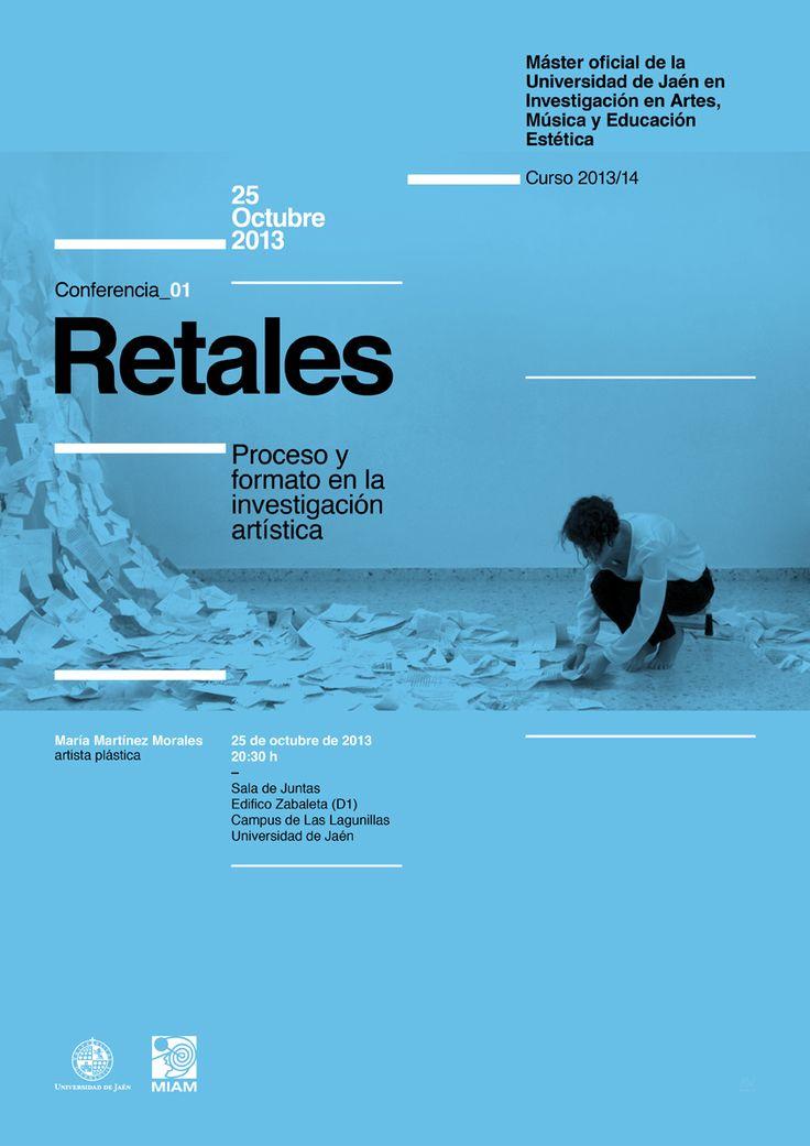 01 / Cartel Ciclo de Conferencias del Máster Oficial de la Universidad de Jaén en Investigación en Artes, Música y Educación Estética – designed by Javi Montoya
