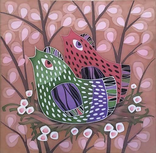 Весенний батик полтавской художницы Ларисы Лукаш