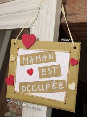 Pancarte de porte pour maman, cadeau de Fête des mères