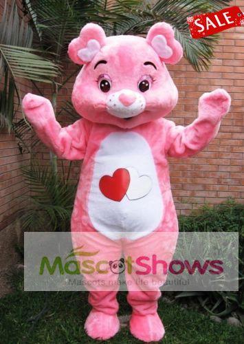 Mascotte de Bisounours Rose Adorable Costume Déguisement