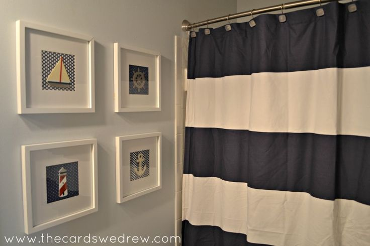 Nautical Bathroom Makeover - The Cards We Drew
