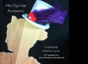 Mini hoge hoed maken voor de jaarwisseling