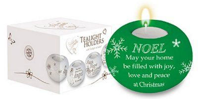 Green Noel Night Candle Holder.