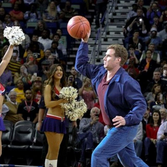 Will Ferrell Nailed A Cheerleader With A Basketball; Was That His Only Sports Cameo?