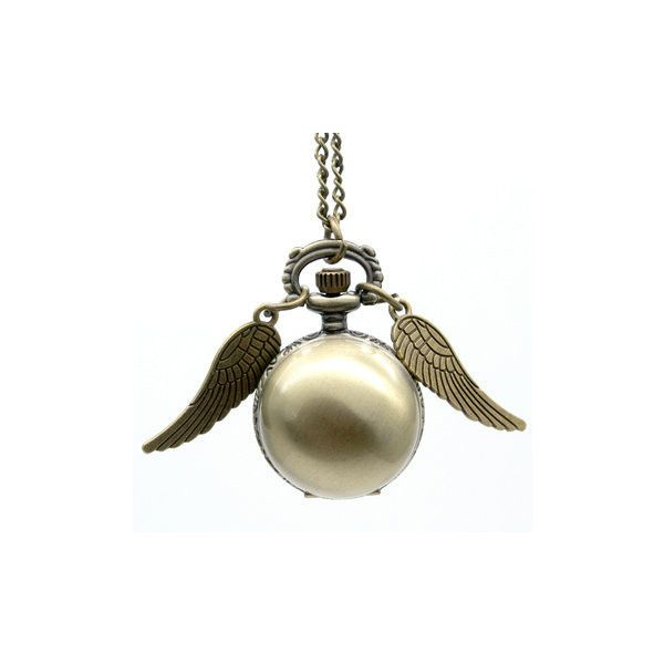 Steampunk Wings Pocket Watch ($9.56) ❤ liked on Polyvore featuring jewelry, watches, bronze, silver dial watches, pocket watch, steam punk watches, wing jewelry and chain watches