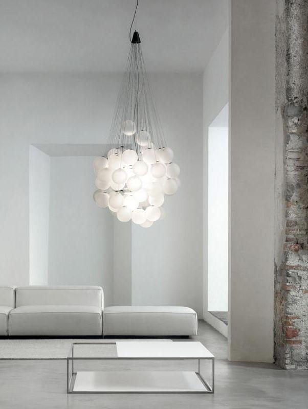 Design LED Kugel Hänge Lampe Wohn Ess Zimmer Decken Pendel Leuchte ALU Geflecht
