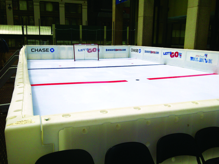 Smartrink Sets Up A Synthetic Ice Rink At Madison Square Garden With The Ny Rangers Let 39 S Go