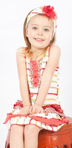 Aren't I just gorgeous in my crayon stripe summer dress?   #fairtrade #childrensclothing #southafrica