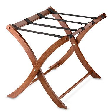 Solid Wood Luggage Rack In Walnut