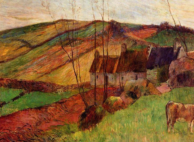 """paulgauguin-art: """"Cottages on Mount Sainte Marguerite, 1888 Paul Gauguin """""""