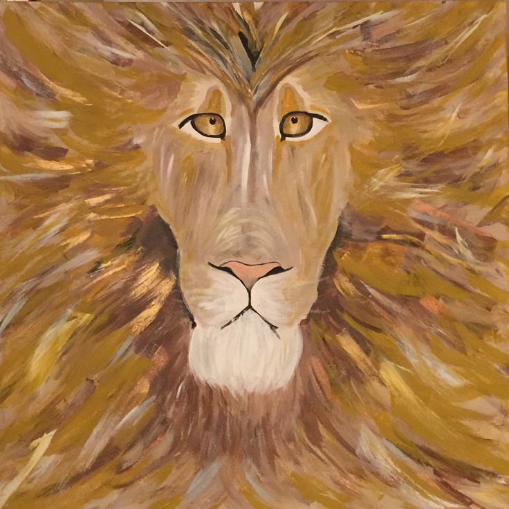 Lemuel Lion captivates a room with his commanding presence featuring earthy golds, browns, and highlights of gold and copper.