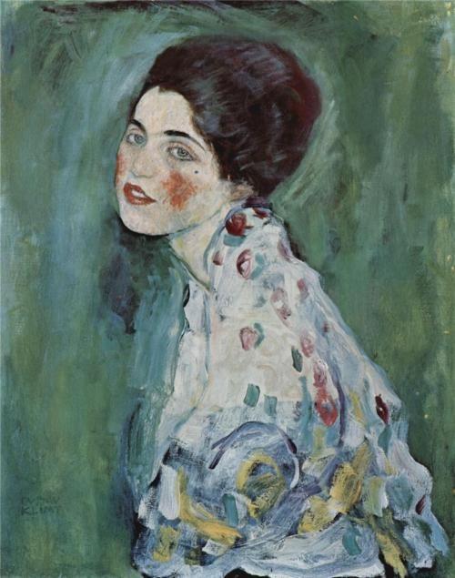 descroissants:  Portrait Of a Lady Gustav Klimt c.1916-1917