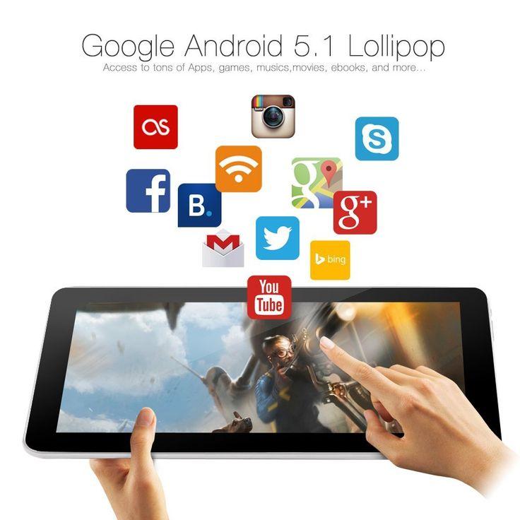 IRULU EXpro X1s 10.1 Inch Quad Core Google Android 5.1 Lollipop Tablet PC,  1gb RAM