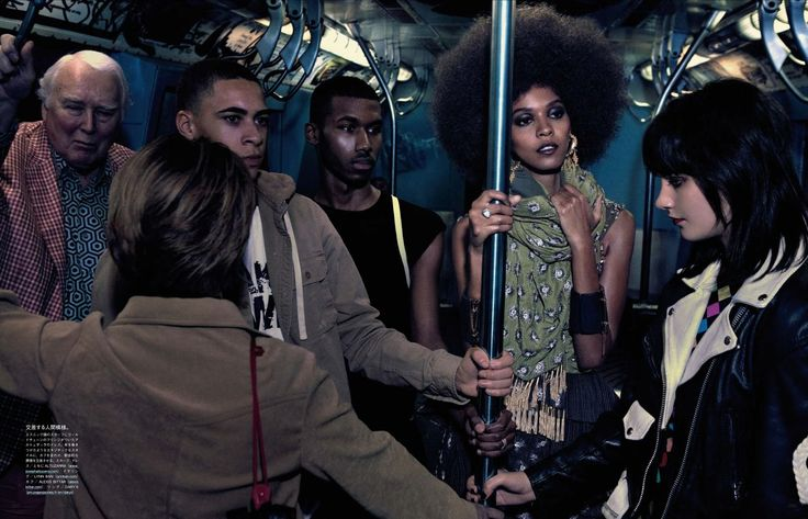 the vanishing underground: liya kebede by mikael jansson for vogue japan april 2013 | visual optimism; fashion editorials, shows, campaigns & more!
