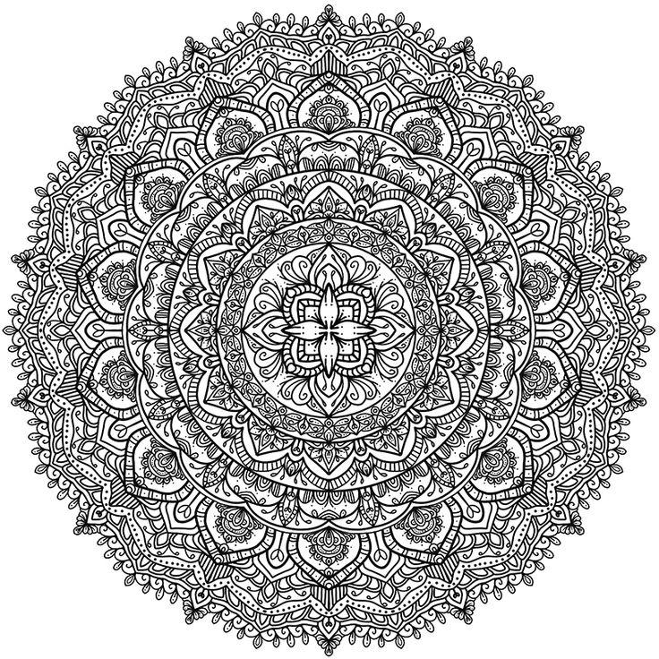 Paisley Mandala Coloring Pages