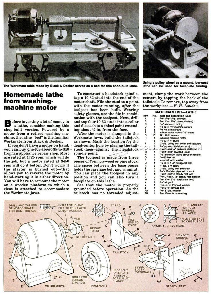 Homemade Wood Lathe - Lathe Tips, Jigs and Fixtures | WoodArchivist.com