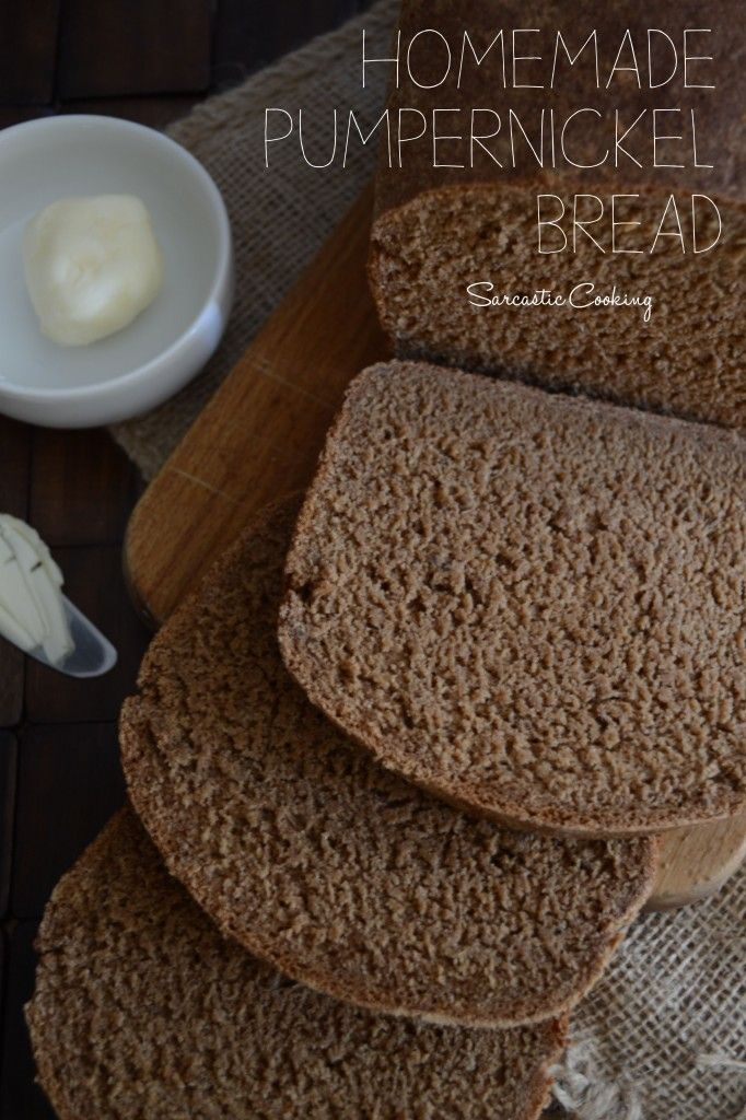 Homemade Pumpernickel Bread