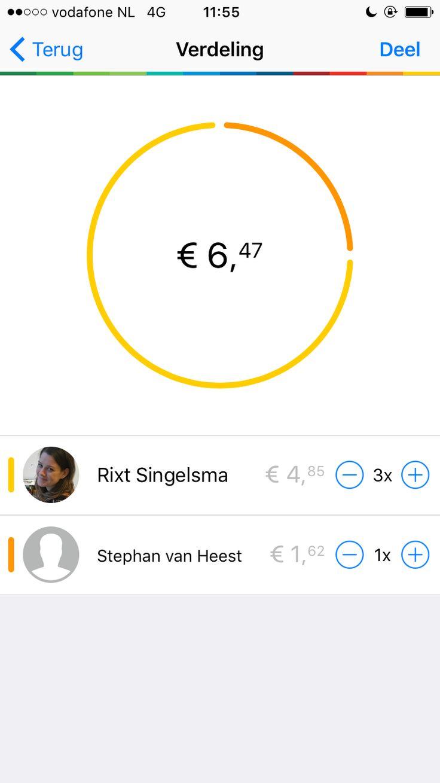 Bunq bank - Slice app