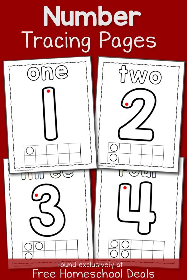 Number Tracing Pages for Preschool and Early Kindergarten