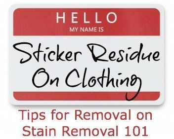 How to remove sticker residue from clothing, see comments too