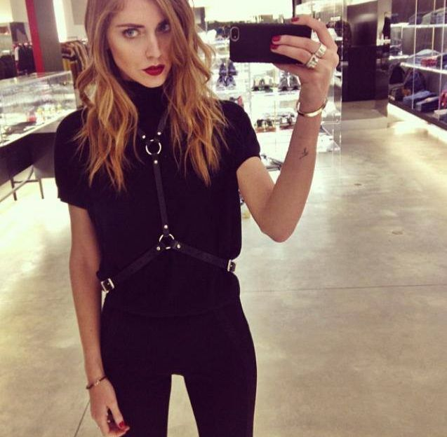 Chiara Ferragni with the Black Python iPhone Case.  Photo Courtesy of Chiara Ferragni.