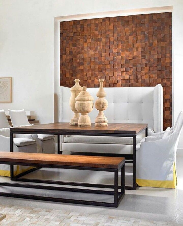 This Living Room Has A Unique Accent Wall Design Created With Hundreds Of And Pieces Wood Creating Both Natural But One That Is