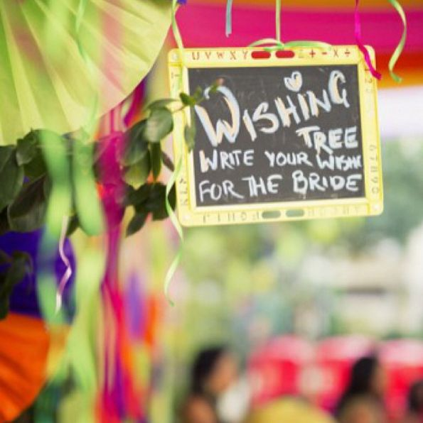 Get personal, meaningful notes by keeping a wishing tree with post-its and pens. | 20 Easy Ways To Make Your Indian Wedding Goddamn Adorable
