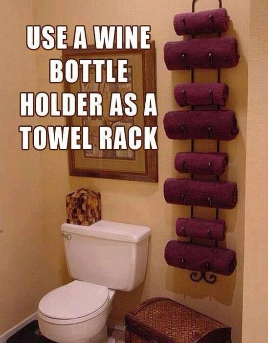 Guess I'll be looking for a wine rack now. This is a neat idea. :)