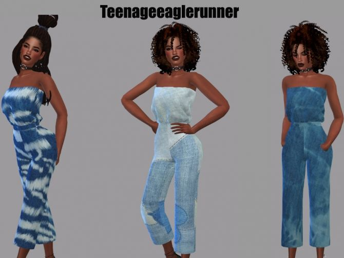 Tube Jumpsuit Recolor at Teenageeaglerunner • Sims 4 Updates