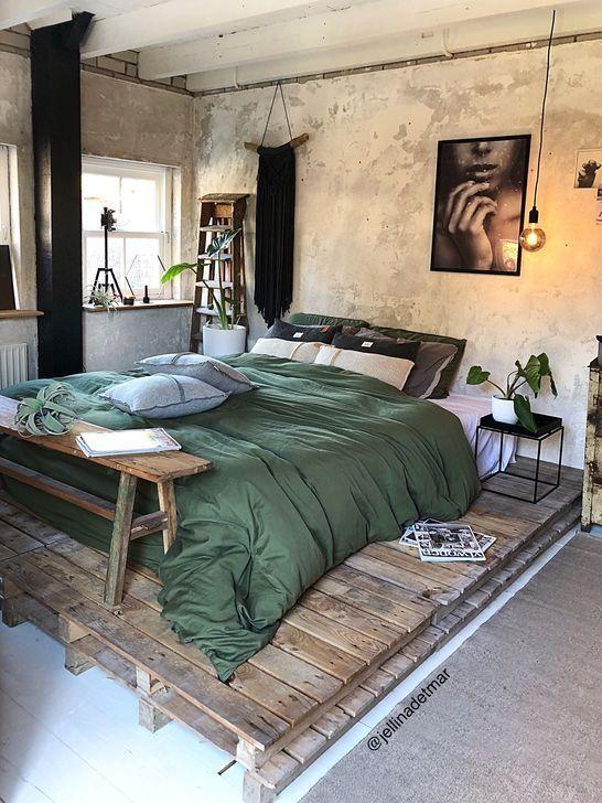 46 Moderner Stil Fur Industrielle Schlafzimmer Designideen 46 Modern Style Fur Industrielle Schlafzi Industrial Bedroom Design Bed Design Bedroom Vintage