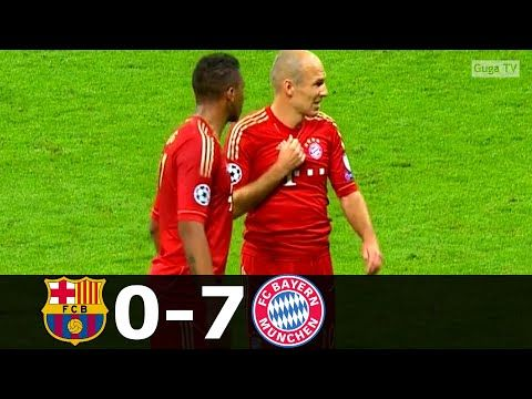 Bayern Munich Vs Barcelona 7 0 Agg Semifinal 2012 2013 English Commentary Full Review Youtube In 2020 Champions League Uefa Champions League Barcelona