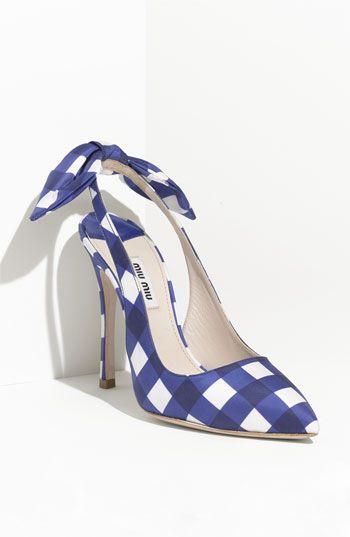 Miu Miu gingham slingbacks. I really want these to have a platform and a chunkier heel, but too cute not to like!
