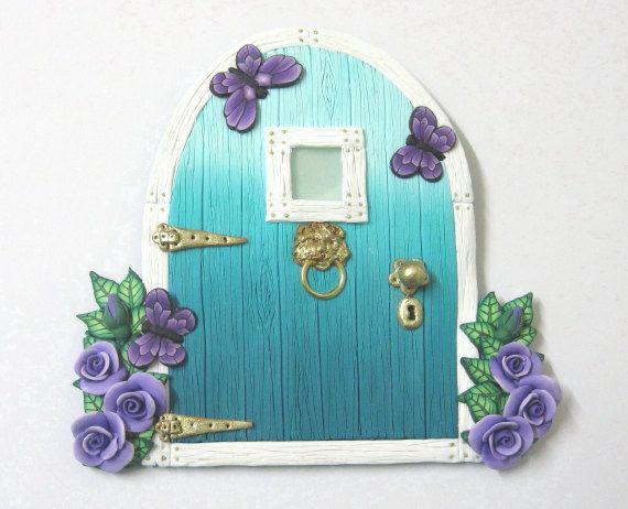 336 best images about fairy doors on pinterest for Purple fairy door