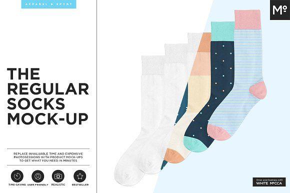 The Regular Socks Mock-up by Mocca2Go/mesmeriseme on @creativemarket