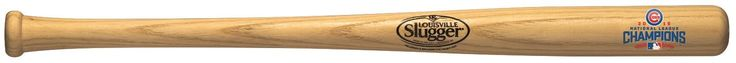 Chicago Cubs Bat - 18 in. - Natural with Logo - 2016 World Series Champs