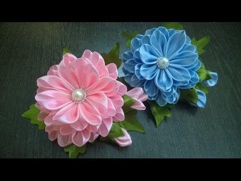 D.I.Y. Satin Kanzashi Flower - Tutorial   MyInDulzens   Kanzashi, fabric flowers, foamiran   Postila