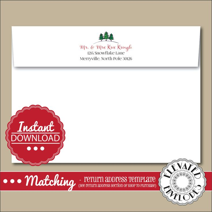 Best Elevated Envelopes Images On   Christmas