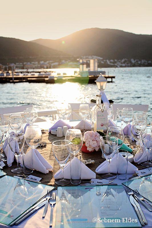 www.pro-ned.com Boho Style Wedding Table Decoration Bohem Tarzda Düğün Masası Süslemesi