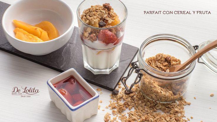 #parfait con #cereal y #yogurt @delolitallanogrande