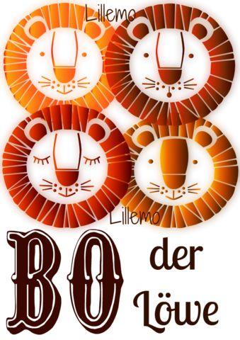 """Plotterdatei """"der Löwe Bo"""" von Lillemo * Süßer Löwe für Kinderkleidung und Accessoires für Silhouette Cameo/Portrait oder ähnliche Plotter"""
