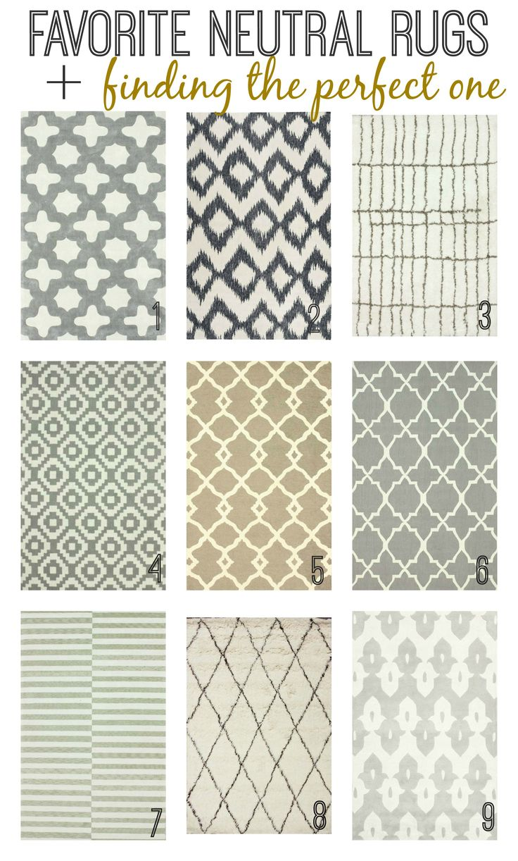 Favorite Neutral Rugs + Finding the perfect one