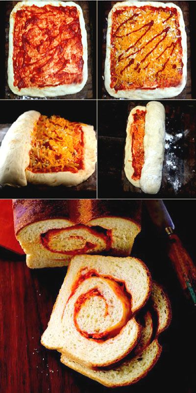 ... pastry and bread on Pinterest | Pizza cones, Pizza and Bread recipes