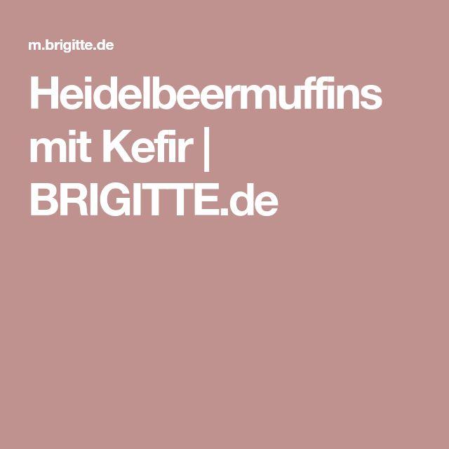 Heidelbeermuffins mit Kefir | BRIGITTE.de