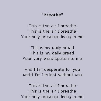 MICHAEL W. SMITH LYRICS - Breathe