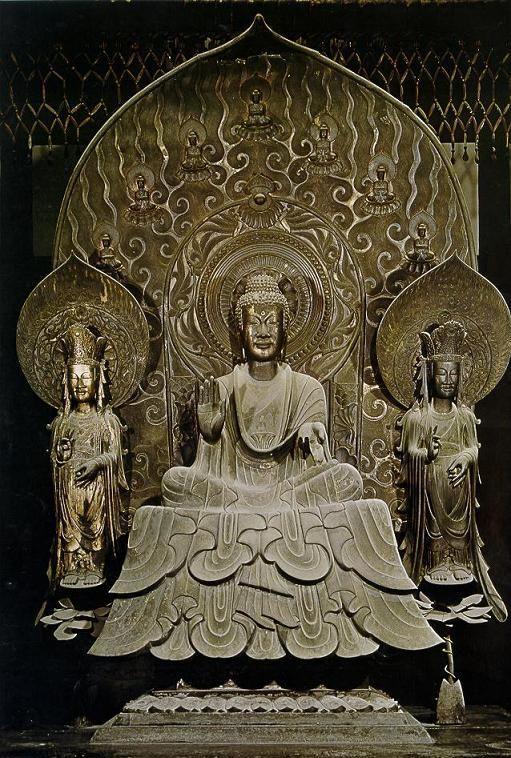 釈迦三尊像(法隆寺)Buddha [ Hōryū-ji ] 623?